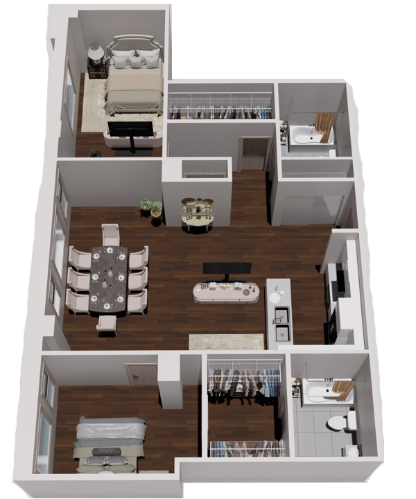 Two Bedroom & Two Bath Deluxe