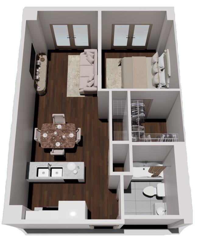 One Bedroom Courtyard